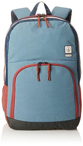 Volcom Unisex-Erwachsene Roamer Backpack Rucksack, Blau (Ash Blue), 16x32x47 cm (Rucksack Leichter Volcom)
