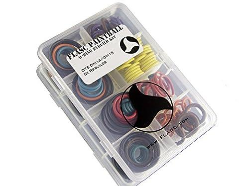 Dye Dm14–DM15Série 5x Code couleur Paintball Joint torique Rebuild kit par Flasc