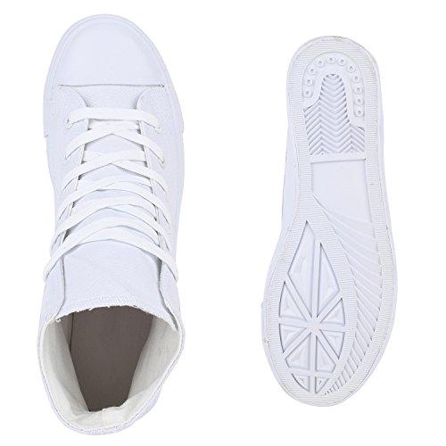Herren Schuhe Sneakers | Sneaker High Denim | Turnschuhe Camouflage | Stoffschuhe Schnürer Weiss All
