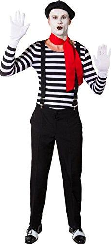 Orlob Damen Body schwarz-weiß gestreift Karneval Fasching Party Gr.S/M