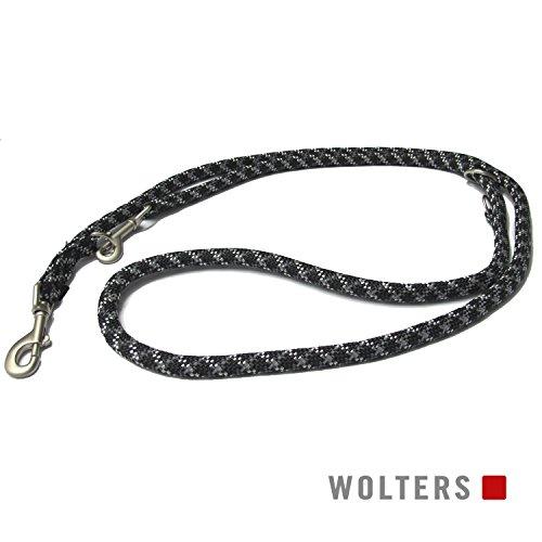 Wolters | Führleine Everest reflektierend in Schwarz/Graphit | L 200 cm x B 1,3 cm