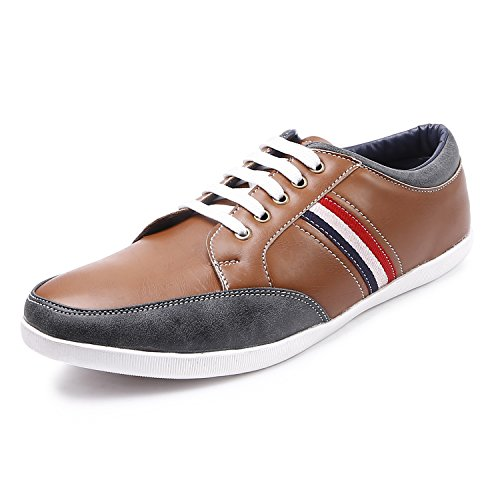 Arthur Men's Coffee-Grey Color Synthetic Sneakers Size_8  available at amazon for Rs.499
