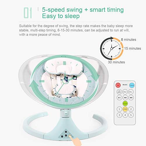 Baby-elektrischer Schwingstuhl-Lehnstuhl-Baby-schläfriges Baby-Artefakt-Schwingstuhl-neugeborenes Wiegen-Wiegen-Bett, das 30KG trägt (Farbe : Pink)