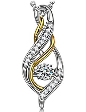 Anhänger Halskette Silber Dancing Heart