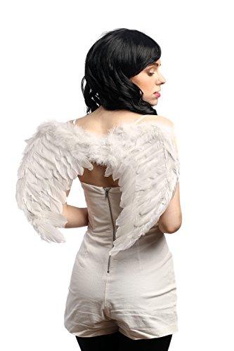 DRESS ME UP - RH-027-white Halloween Karneval Cosplay Flügel Federflügel Weiß Engel Engelchen Schwan Heiliger Geist Gothic