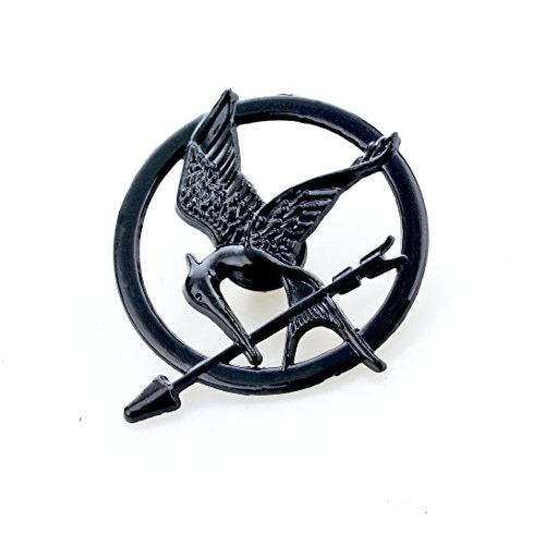 Black Mockingjay Pin Brosche Hunger Spiele Fang Feuer Replica Prop Katniss Everdeen District 13 (Schmuck Kostüm Pins)