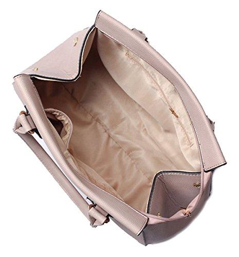 Kukubird Carianna Di Alta Qualità Ecopelle Due Cinghie Design Top-maniglia Spalla Tote Borsetta apricot Compras El Precio Barato zqq3e9