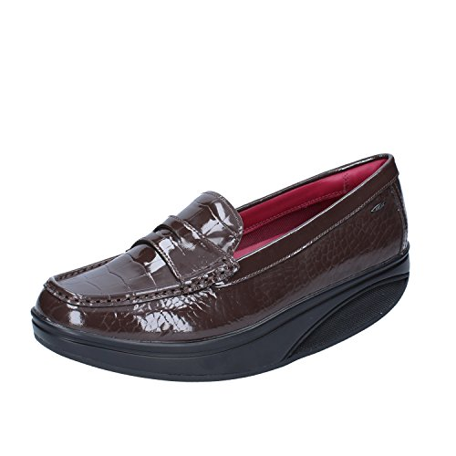 MBT Shani Luxe Penny, Mocasines (Loafer) para Mujer, Marrón (Coffee Bean Patent), 37 EU