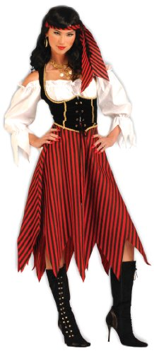 Adult Pirate Maiden Fancy dress costume (Adult Dress Fancy Pirate)