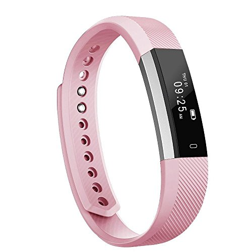 moreFit Slim Fitness Tracker with Touch Screen Best Fitness Wrist Band Pedometer Smartband Sleep Monitor Watch, Blush Pink