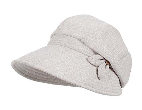 YORFMA Outdoor Sonnenschirm Hut, Weibliche Version, Freizeit, Sonnenschutz, Hut der Frauen,Grau,57-58cm