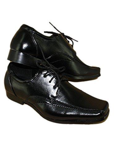 Boutique-Magique Chaussures de Cérémonie Garçon Enfant Noir