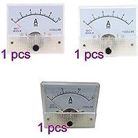 Vosarea Medidor de Panel analógico de Cabeza de Puntero voltímetro DC 5A 10A 15A