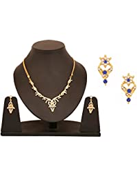 Touchstone Combo Of A Stylish Necklace Set & A Pair Of Floral Earrings For Women