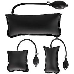 Outil de retrait de sac gonflable de pompe à air compensée Calevin Air pour niveler l'alignement 3 tailles de sac de cales ajustable avec soupape de desserrage en métal, noir