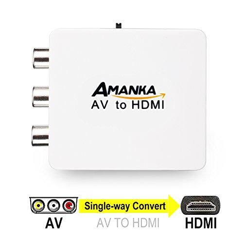 AMANKA Adaptador Conversor de AV RCA a HDMI 720P 1080P para DVD...