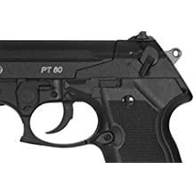 Pack pistola Perdigón Gamo PT-80 4,5mm. Potencia 3,4 Julios + balines + 1 bombona co2