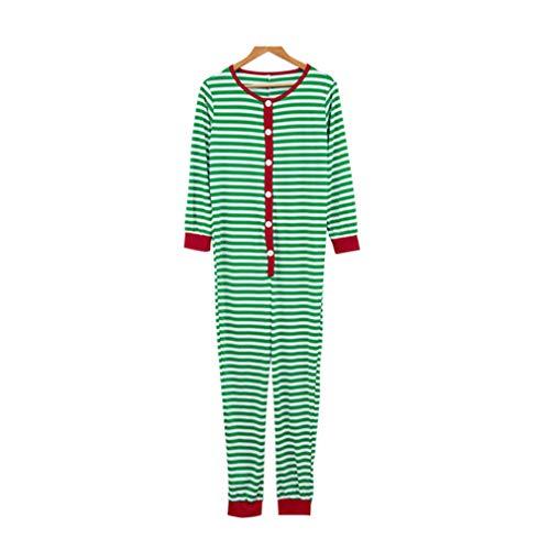 Weihnachten gestreifte Farbe Eltern-Kind-Nachtwäsche Overall/Rundhals-Pyjama Streifen Erwachsene Kind Outfits Kostüm/Papa/2XL