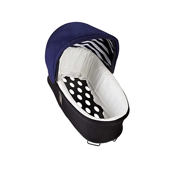 Mountain Buggy Model: Urban Jungle Luxury Collection Nautical Including Changing Bag and Baby seat (carrycot Plus) Mountain Buggy Box contents: 1 Mountain Buggy Urban Jungle Luxury Collection Nautical including changing bag and baby seat (carrycot plus) Product weight: 11.5 kg Seat load: 25 kg 8