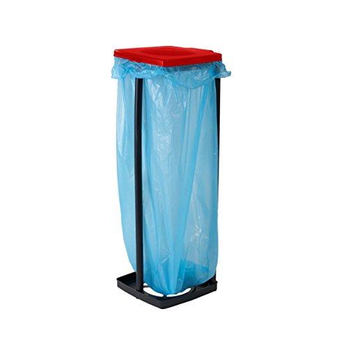 M/üllsackhalter 3-fach h/öhenverstellbar F/ür M/ülls/äcke bis 60 Liter Abfallsammler f/ür Haushalt oder Camping M/üllsackst/änder mit Deckel Blau Abfallbeh/älter