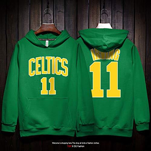 Drew Jersey (QAZ Männer Hoodie Kelten/Uncle Drew Basketball Jersey Hoodie Mode Sweatshirt Pullover Komfortables T-Shirt NBA T-Shirt,Green-XL)