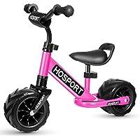 HOSPORT Vélo Draisiennes Enfants Vélo d'équilibre pour Garcons et Filles DE 18 Mois à 3,5 Ans, sans Pédales, Guidon Réglable et Seat Développer L'équilibre