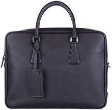 Prada bolso de trabajo maletín hombre en piel nuevo negro