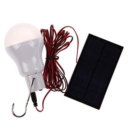 WinnerEco Tragbare Solar-LED-Lampe mit 0,8 W Solarpanel für Outdoor-Wandern, Camping, Zelt, Angel-Beleuchtung