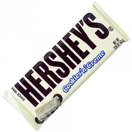 Hershey's Cookies 'n' Creme Bar 1.55 OZ (43g) [Pack 9] (Chocolate Bar Hershey)