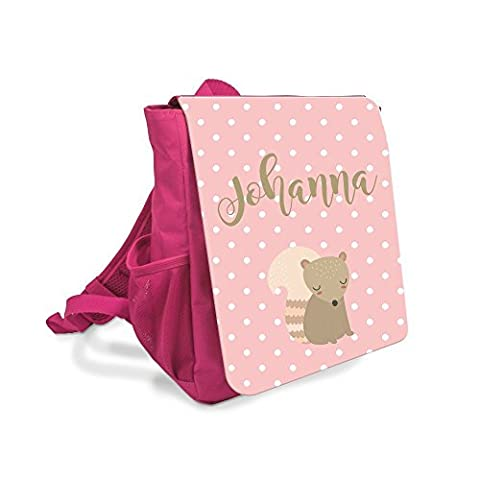 Kinder Rucksack in Pink I Rucksack mit Namen I Kindergarten Rucksack I Kinderrucksack Mädchen I Geschenk für Mädchen I Kita Rucksack mit Wunschnamen I Personalisierter Kinder-Rucksack I Girl Backpack