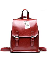 95e230e51903 Yoome Vintage Oil-Wax Leather Backpack Multifunction Purse for Women School  Bag for Girls Travel