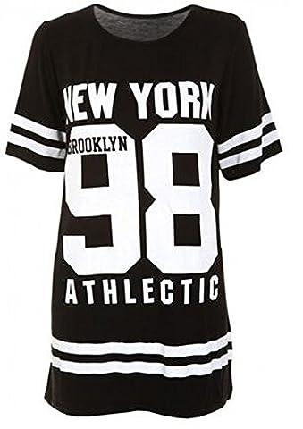 Janisramone Women Baseball Brooklyn New York 98 Oversize Baggy T