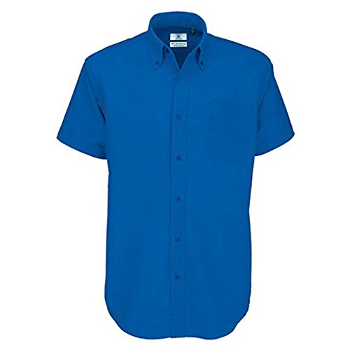B&C Collection Herren Modern Business-Hemd Blue Chip