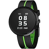 Pulsera de Actividad con Pulsometro Pulsómetros/Contador de Calorias/Monitor de Sueño/Contador de Pasos Reloj Deportes con Luz de Fondo para iOS/Android Aire Libre Escalada de Roca Correr