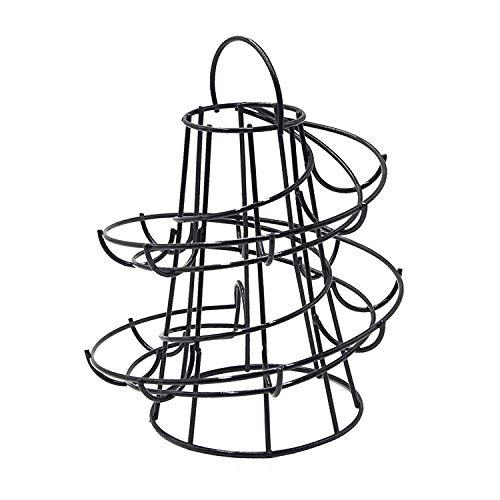 Ei halter / Eihalter Küche Ständer / Eiablage Eier-Korb Spirale (Schwarz) Gans Stand