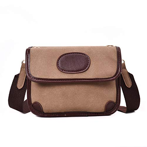 Double-Layer kleine quadratische Tasche weibliche Mode Handtasche einfache breite Schultergurt PU Diagonale Kreuzstich Umhängetasche, Khaki (Uns Kreuzstich)