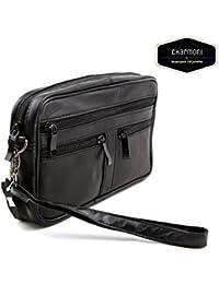 Charmoni-vacío bolsillo-Bolsa con cremallera para hombre, piel de nueve Edem
