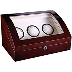Watch winder Lindberg&Sons Brown for 3 self-winding watches and capacity for 6 additional watches UB8079brcr