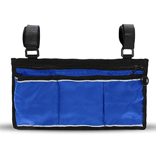 Rollstuhl Seitentasche-Große Zubehör für ihre mobilität geräte. Passt meisten Roller, Wanderer, Rollatoren-Manua,Blue -