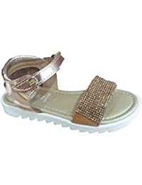 MTNG Kids Cheiw 47293-1 - Zapatillas Infantil Niña Glitter Plata belcro (20) qZjaN