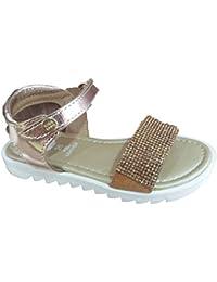 MTNG Kids Cheiw 47293-1 - Zapatillas Infantil Niña Glitter Plata belcro (20)