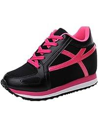 178de591 Deportes cuña Zapatillas Ocultas Tacones Plataforma Zapatos Tenis Casual de Las  Mujeres Zapatos Bombas