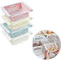 Frigoríficos Organizadores de Cajones 4 pcs Ajustable Caja de Almacenamiento del Refrigerador Contenedor de Alimentos Cestas