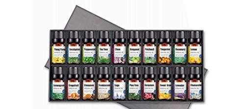 KaBurger® 20Pack volkstümliches Rezept Ätherische Öle Geschenk-Set geeignet zur Aromatherapie, Massage, Heilung, Revitalisierung & Wellness Behandlung(20x 10ML) -