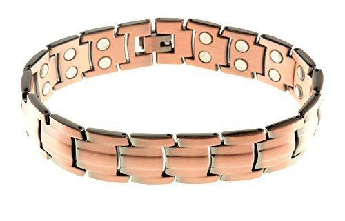 Sonder GÜNSTIGER Einleitende Preis Herren, Damen, Unisex schwer Kupfer Magnet Armband Verschluss 42 leistungsstark Magnete Arthritis 5000 Gauß