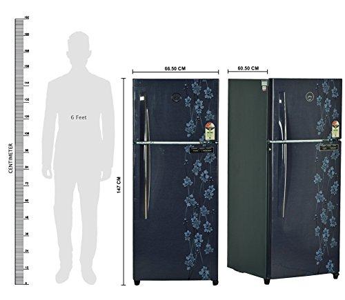 Godrej 241 L 3 Star Frost-Free Double Door Refrigerator (RT EON 241 P 3.4, Denim Petals)