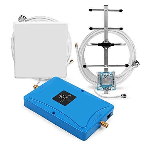 ANNTLENT 4G LTE Handy Signal Booster 800MHz (Band 20), 70dB, Verbessern Sprachsignal und Daten, Hoheleistung, für Haus und Büro...