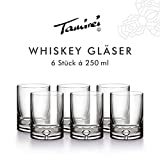 Garbanzo-Shop Gläser für Whisky, Cognac, schwere Qualität, mundgeblasen, mit Luftblase im dicken Boden, elegant und hochwertig
