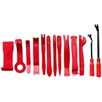 13pcs Pry Disassembly Tool Red Auto Car Audio Dash Tirm Panel Installer Dashboard Removal Opening Repair Tools Kit Interior Door Modeling Clip Set