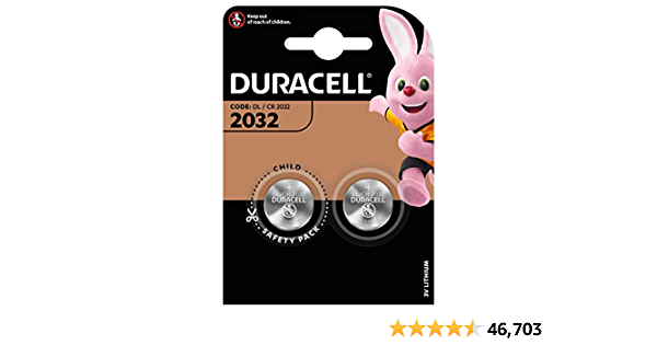 Duracell 2032 Twin Pack - silver